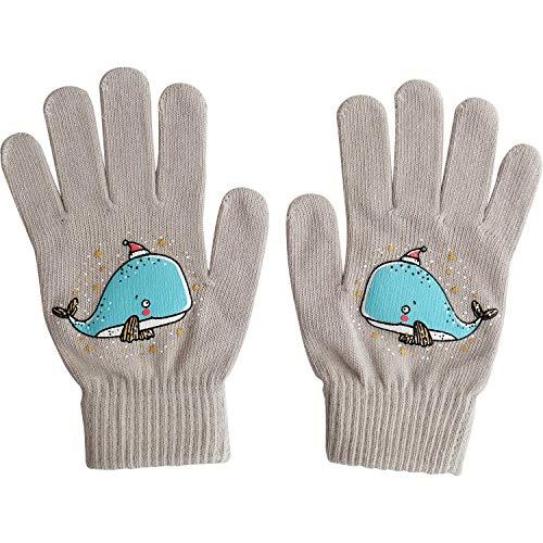 Die Geschenkewelt 49801 Zauber-Handschuh mit Wal, Baumwolle, One Size, Grau