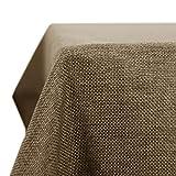 Deconovo Tovaglia Impermeabile Rettangolare Copritavolo Elegante Tinta Unita Un Panno Tavolo per Sala da Pranzo in Lino 150x150 CM