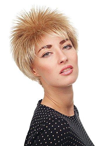 WIG ME UP ® - 3324-27T613 Damenperücke Perücke Kurzhaarperücke kurz toupiert wilde Strähnen 80er Igel Wave Blond Mischung