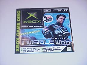 """Xbox Demo Disc #27, January 2004, Featuring """"Deus Ex Invisible War"""", (Disc Only)"""