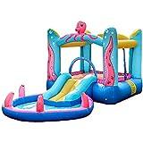 HFJKD Castillo Inflable para niños, Kid Diapositivas Juguetes, Juguetes para bebés Castillos hinchables, con Piscina, Kid Infantil Trampolín, para Interiores y Exteriores