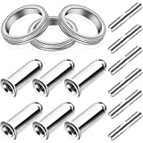 Hoptop 15 Pieces Gy6 Exhaust Bolt and Gasket for 50cc 125 cc 150cc motorcycle moped performance parts Scooter Gy6 Engine Bolts and Gaskets Gy6 Exhaust Studs and Nuts for Vehicles, 3 Sets