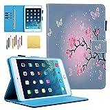 Funda para iPad Mini 4 3 2 1, funda para iPad Mini, funda ultrafina de estilo libro integrada con función atril para todos los iPad Mini 4 3 2 1 de 7,9 pulgadas, diseño de flores de cerezo