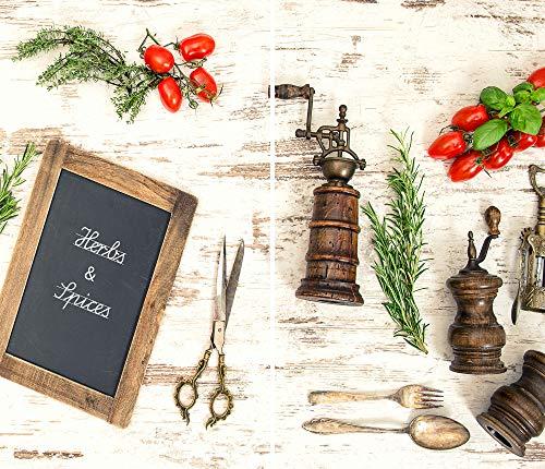 DAMU |ceranfeldabdeckung 2Piezas 2x 30x 52cm Cubiertas de Cocina eléctrico Horno Cocina de inducción Placa Protección contra Salpicaduras Cristal Cocina Tabla de Cortar