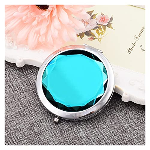 Luces de espejo de vanidad LED Espejo de maquillaje para niñas y cristal ligero de gama alta, material de tamaño de luz plegable para maquillaje (Color : Dark blue)