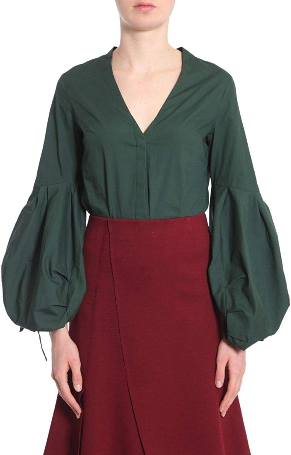 Jovonna London Women's ARRETONGREEN Green Cotton Blouse