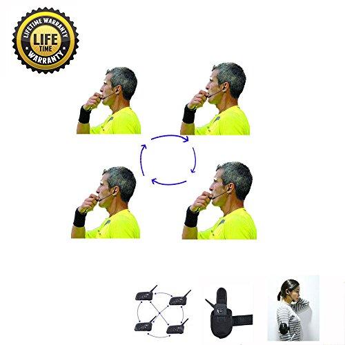 Referee Headset 4 Referees Talk same time Football Wireless Headsets Referee Headset referee communication Football Referee Wireless headset Football
