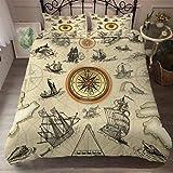 AMCYT - Juego de funda de edredón y funda de almohada con cremallera, diseño de símbolo religioso mágico, 3, 220*260