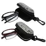 Gafas de lectura - Gafas de presbicia, gafas plegables portátiles de lectura de presbicia con 5 tipos (Design : Black2.0)