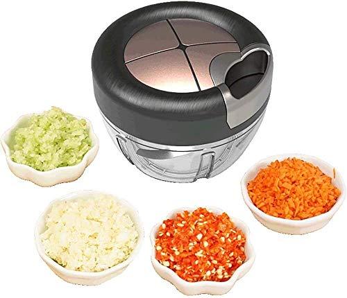 Manuelles Nahrungsmittelzerhacker Gemüse Fleisch Choppers Zwiebel Chopper Food Processor Hand Speedy Chopper Blender for Kotelett Obst, Gemüse, Nüsse, Pesto, Püree nicer dicer quick cfbcc