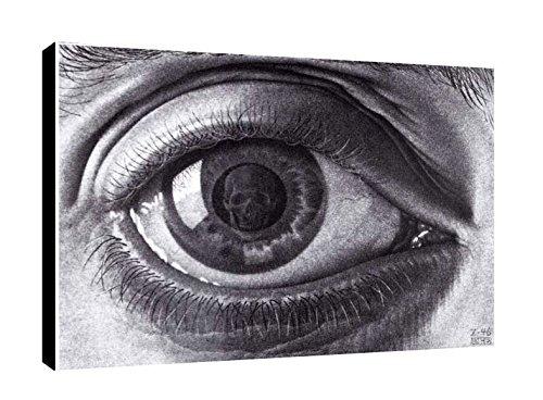 Quadro intelaiato Pronto da Appendere Escher 24 cm 35x50 Stampa su Tela Canvas Il Negozio di Alex