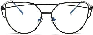 Simple Cat Eye Glasses Black Big Frame Clear Lens Eyewear for Women