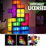 Tetris Stackable Toy Light,Puzzles Fun Toy lamp,7 Colors Magic Induction Interlocking Blocks,DIY Tetris Tangram Light,Kids Toy DIY Gift