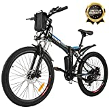 ANCHEER Folding Electric Mountain Bike, 26'' Electric Bike with 36V...