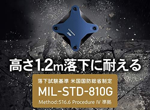 I-ODATAポータブルSSD480GB小型USB3.1(Gen1)耐衝撃MacPS4バスパワー対応SSPH-UA480NV/E