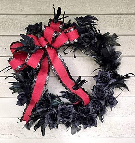 Gothic Halloween Flying Blackbirds Wreath