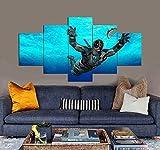 Impresiones sobre Lienzo Consorcio Inactivo 5 Cuadros En Lienzo Modernos Salón Decoracion Murales Pared Lona XXL Grande Hogar Dormitorios Arte Pared HD Impresión Foto