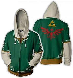 zhacaoji Zipper Sweatshirt Jacket Hoodies Cosplay Costume Unisex