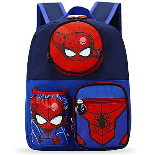 Zaini Spiderman Zaino per Bambini, Zaini Scuola Zaino Asilo Super Hero Spiderman Zaino Scuola Regolabile per la scuola prescolare, Elementary