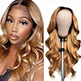 Ombre Human Hair Wig 4x4 Closure Wig Blond Human Hair Wig Body Wave Lace PerüCke Human Hair Wig Highlight Glueless Lace Front Wig Human Hair 1b/27 Ombre Human Hair Wig 16 Inch