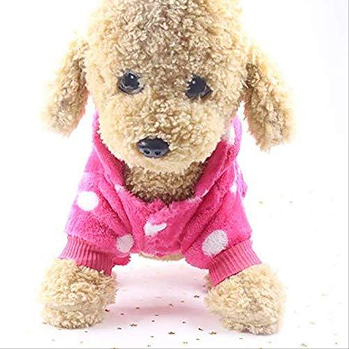 XYBB Hond Kleding Huisdier Winter Warm Fleece Jumpsuit Huisdier Slaapmode Kerst Jas Voor Kleine Honden Puppy Kostuum Hond Kleding, L, G202162B