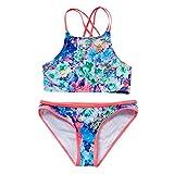 Amlaiworld Conjuntos de Ropa de Playa para niñas Verano Niños Niñas Bikini Traje de baño Floral para Playa + Pantalones Cortos Conjunto de Trajes de baño