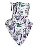Máscara cómoda a prueba de viento, plantas botánicas, flores exóticas, violetas, Bluebells acuarela, decoraciones faciales impresas para adultos unisex, 2 filtros