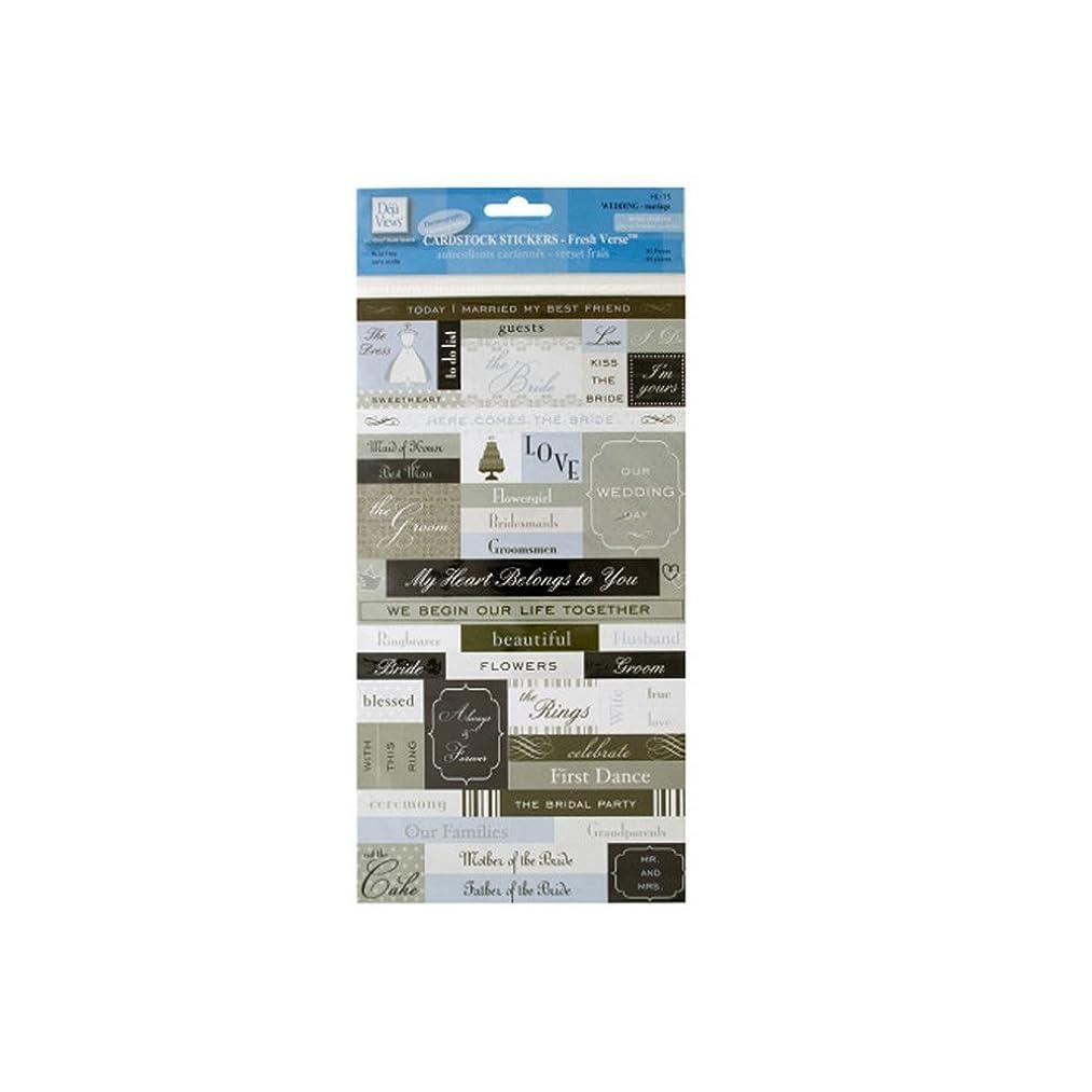 JT Scrapbooking Fresh Verse Wedding Cardstock Stickers-24 Pack