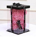Supermolon - Orso con rose in schiuma, 25 cm con scatola regalo, originale – Orso di rose...