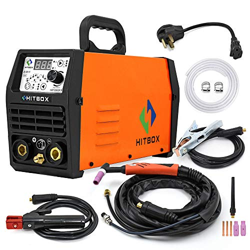 HITBOX TIG Welder Pulse 200A 110/220V Dual Volt Inverter IGBT Stick TIG Digital TIG200P Welder Welding Machine