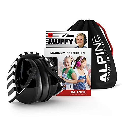 Alpine Muffy kinderoorkappen - Gehoorbescherming voor kinderen vanaf 2 jaar - Comfortabele geluidsbescherming voorkomt gehoorbeschadiging - Stevig en gemakkelijk op te bergen - Ook voor concentratie - Zwart