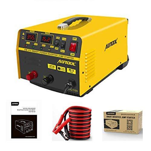 MRCARTOOL Cargador de batería de Coche Autool 20A, arrancador de vehículo 12V / 24V 400A, Cargador de Plomo-ácido para Coche, Motocicleta, cortacésped, Caravana, SUV, ATV