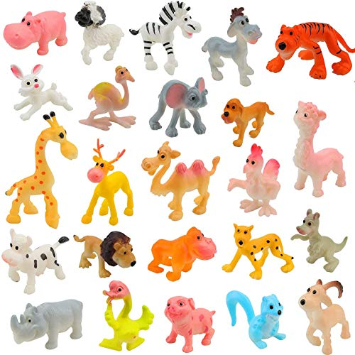 Beauy Girl 12 Pcs Farm Animals Figures Realistic Simulation Farm Animal Figures Cake Topper Farm Animal Models Toy Set Educational Learn Cognitive Toys Cupcake Toppers Party Favors