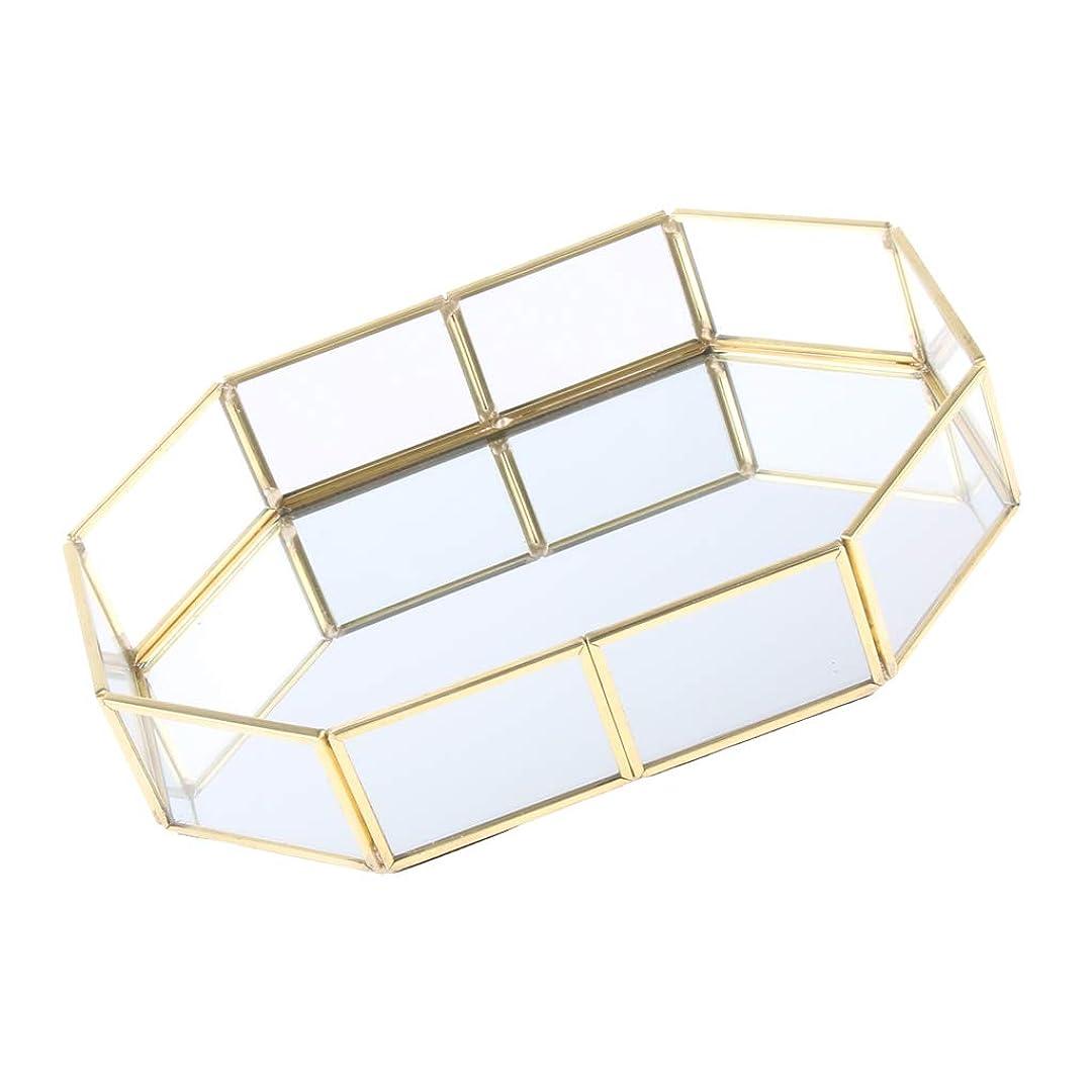 ホース信号悲しいことにB Baosity 化粧ブラシホルダー エレガント 315×50×215mm ゴールド メタル ガラス ジュエリートレイ 品質保証