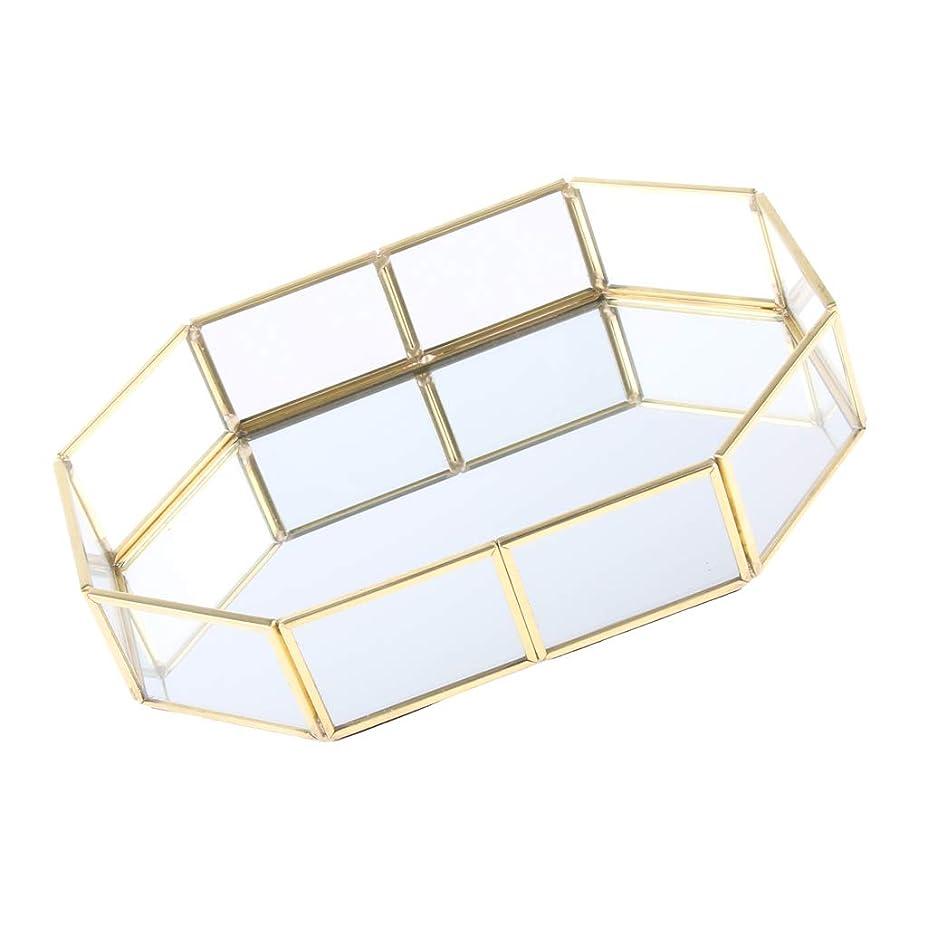 魚ジュラシックパーク検査B Baosity 化粧ブラシホルダー エレガント 315×50×215mm ゴールド メタル ガラス ジュエリートレイ 品質保証