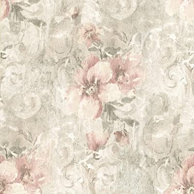 Brewster Beacon House Sienna Pergonda Floral Wallpaper