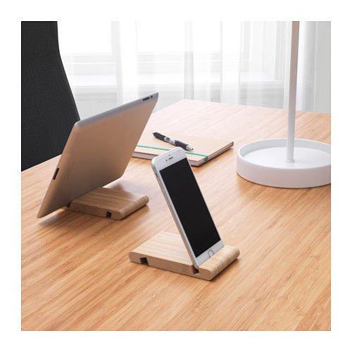 Ikea Bergenes - Soporte universal para telefono y tablet (bambu)