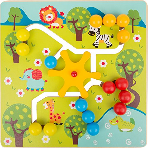 Jouet de motricité - Puzzle à glisser Savane en bois - 1er âge bébé fille garçon
