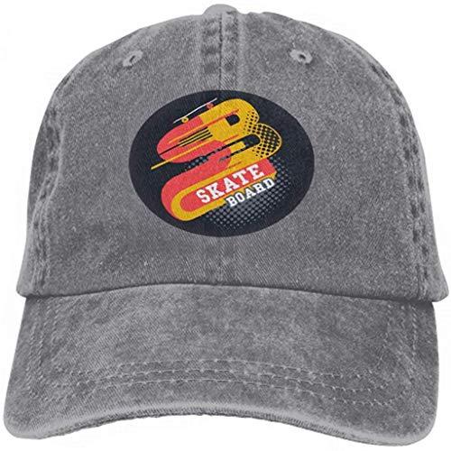IMERIOi Unisex Jeans Baseball Cap Classic Cotton Dad Hat Adjustable Plain Cap Skateboard Lettering Typographic Label Design Multicolor23952