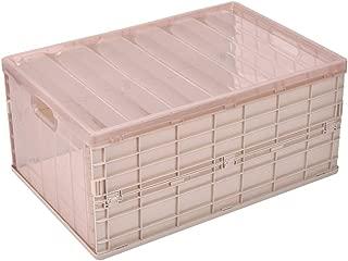 MUYOZZ 25 Quart Collapsible Storage Bins with Lids Foldable Plastic Storage Box for Home,Office,Car Trunk,Closet,Khaki