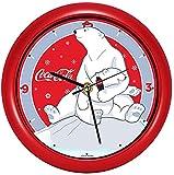 Coca Cola Polar Bear Hugs Festive Red 8 inch Holiday Carol Sound Clock