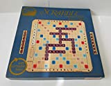 Scrabble Deluxe 1977 Edition Plastic rotating Turntable game Board With Grid