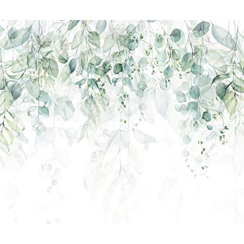 decomonkey Fototapete selbstklebend Pflanzen 392x280 cm XL Selbstklebende Tapeten Wand Fototapeten Tapete Wandtapete klebend Klebefolie Natur Laub