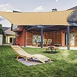 Akarden 8'x10 Sun Shade Sail Canopy Rectangle UV Block for Outdoor Patio Garden (8'X10')