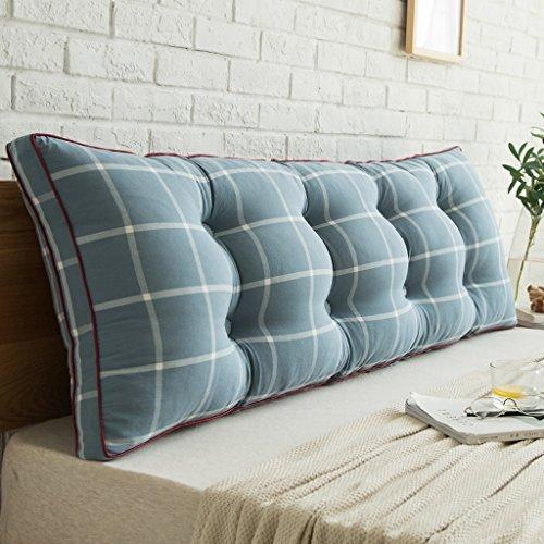 WOFULL Doppelbett Kissen/Pillowtop-Matratze, Nachttisch/Sofa/Wohnzimmer/verfügbar für die Taille/Lesematte Kissen (Farbe : B, größe : 150 * 50 * 20cm)
