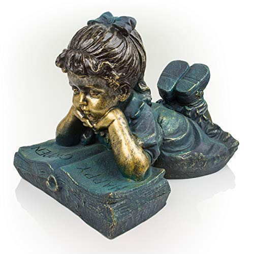 Alpine Girl Reading Statue