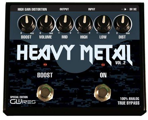 GWIres GHM3 Heavy Metal Distortion and Boost Gitarren-Pedal, Schwarz