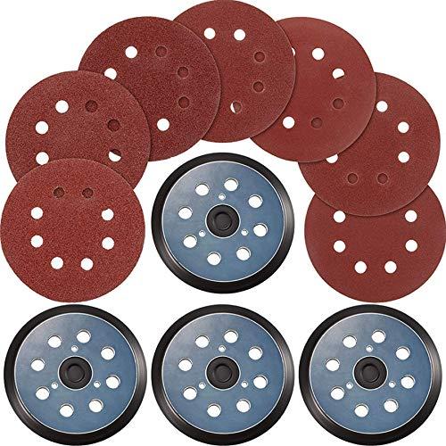 Gaetooely 12 Piezas Discos de Lijado de 40 Granos, Papel de Lija de Grano 60 Piezas Compatible con Cables, y Porter