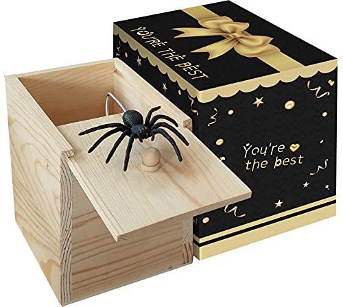 NC Spider Prank Big Box,Wooden Surprise Box,Handmade Fun Practical Surprise Joke Boxes ,Gag Gift...