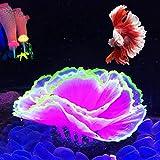 Aquarium Coral Ornament Glowing Effect Coral Decor Resin Fish Tank Plants Decoration for Aquarium Landscape(Purple)
